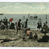 Bathing Scene South Beach, Staten Island, N.Y.  [people on sand and people on float] Souvenir Post Card