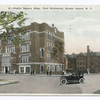 Public Square Building., Port Richmond, Staten Island, N.Y.  [large brick building, with car in street]