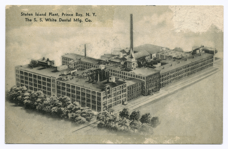 Staten Island Plant, Prince(sic) Bay, N.Y. The S.S. White Dental Mfg. Co.