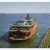 Staten Island Ferry [ferry pulling into terminal docking slip]