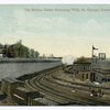 The Million Dollar Retaining Wall, St. George, Staten Island, N.Y. [road wall at edge of train yard by ferry slips]