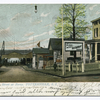 12468-Bentley Street at Ferry, Tottenville, S.I. [view of ferry entrance with sign Ferry to Perth Amboy,  old house with sign The Aulic? Restaurant]