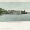 Fort Wadsworth and Staten Island, New York Bay  [view from water of fort and small sailing boat]