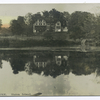 Actor's Home, Staten Island [ext. view reflected in pond]