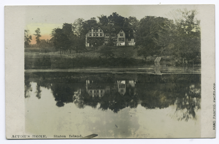Actor'sHome, Staten Island [ext. view reflected in pond]