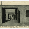 Through the Corridors, the Auto Way, U.S.A. Debarkation Hospital No. 2, Staten Island, N.Y.  [people standing in entranceway]