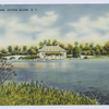 Clove Lake Park, Staten Island, N.Y. [view of restaurant and foot bridge from water]