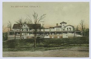 Fox Hill Golf Club, Clifton, S.I. (beautiful ext. view of long, sprawling club house)