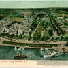 Bird's Eye View Sailors Snug Harbor, Staten Island  [includes description of all 27 buildings]