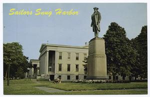 Sailors(sic) Snug Harbor [buildings and statue of R.R. Randall]
