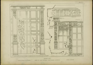 Panelling (now in the Victoria and Albert Museum) : from Bromley-Bow; from Exeter.