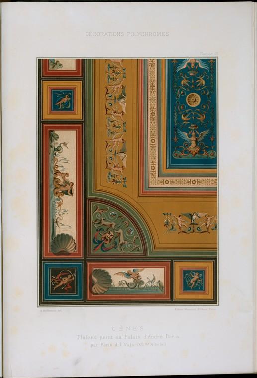 Gênes : plafond peint au Palais d'André Doria par Périn del Vaga (XVIme siècle)