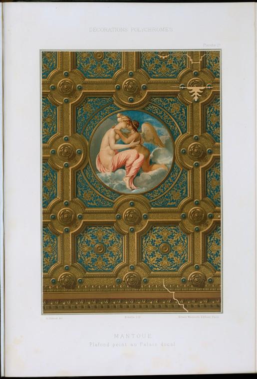 Mantoue : plafond peint au Palais ducal