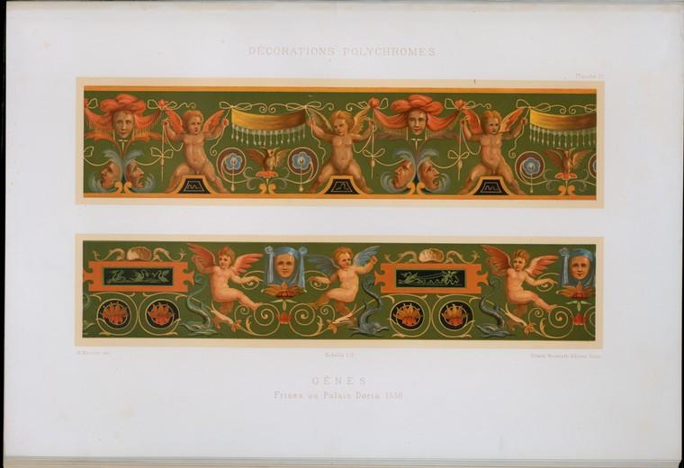 Gênes : frises au Palais Doria 1530