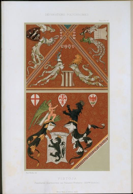 Pistoja : peintures d'armoires au Palazzo Pretorio (XIVme siècle)