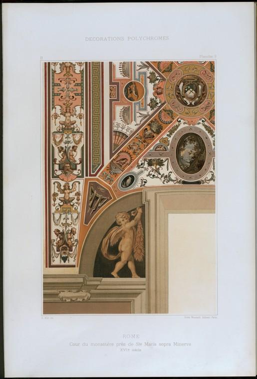 Рим: Кур дю Пре monastère де Sta.  Мария сопра Минервы, XVIe siècle