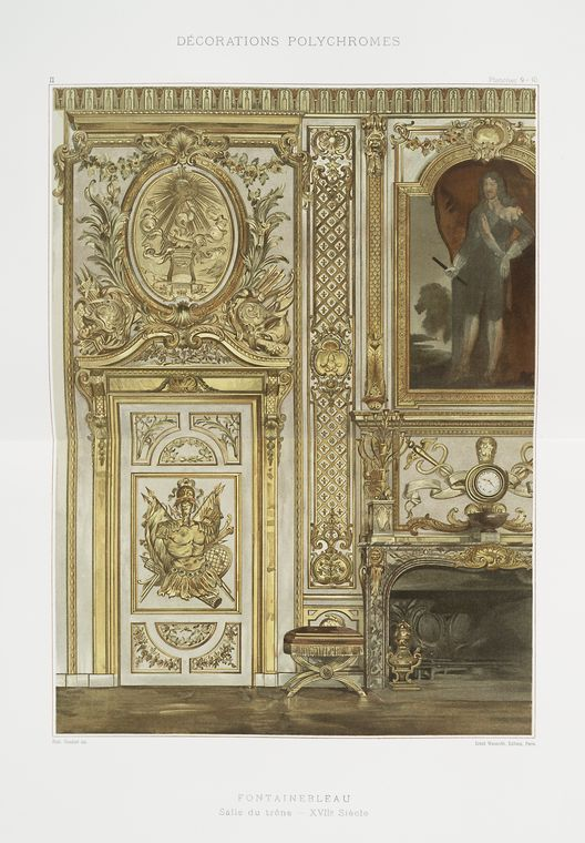 Фонтенбло: зал-дю-ТРОН, XVIIe siècle
