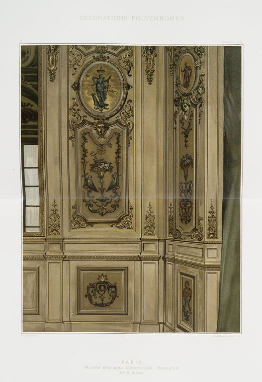 Париж: Музей декоративного искусства, Стеновые панели, XVIIIe siècle