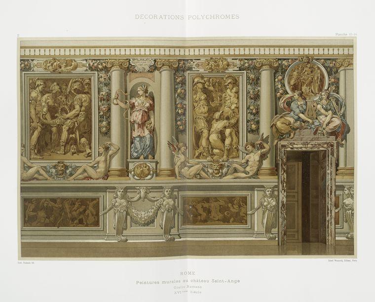 Rome : peintures murales au Château Saint-Ange, Giulio Romano, XVIème siècle