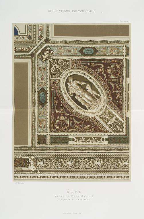 Rome : vigne du pape Jules II : plafond peint, XVIme siècle