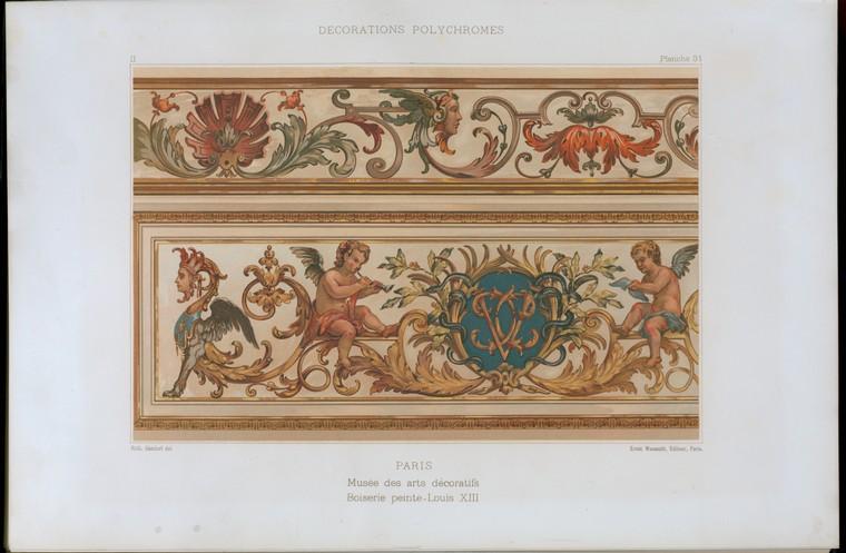 Paris, Musée des arts décoratifs, boiserie peinte, Louis XII