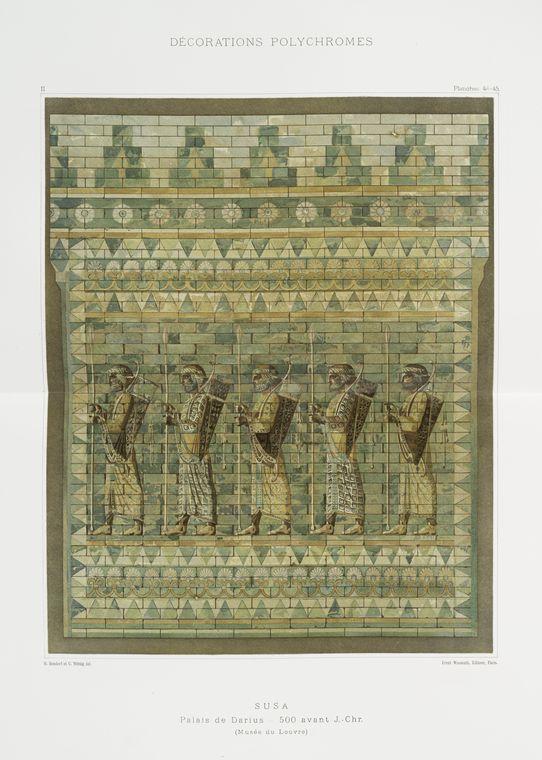 Суза: Дворец Дария, 500 Avant J. Chr.  (Лувр)
