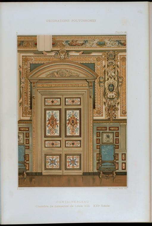 Fontainebleau : chambre de naissance de Louis XIII, XVIe siècle