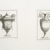 [Two ornate vases adorned with snakes.]