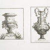[Two vases decorated with putti.]