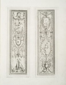 [Two images of grotesque ornamentation.]