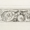 [Acanthus leaves; face and cornucopia; animals and arms and armor.]