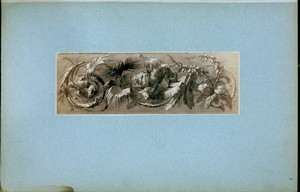 [Ornamentation of plants, lion and sheep.]