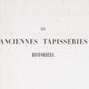 Les anciennes tapisseries historiées, [Vol. 2], [Half title]