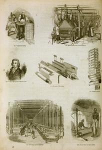 [Textile industry: power looms and their inventor, Dr. Cartwright, Jacquard cards and loom, Hindu weaver.]