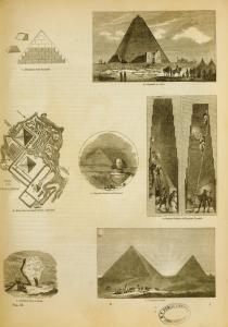 [Pyramids and sphinx, Egypt; Drudical stone in Perisa.]