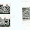 Bali - Blahbatu and Blega: (1,2) Relief from Pura Puseh, Desa Pering, Blahbatu, Bali; (3) Back of a figure on pedestal, with nagas. Pura Gaduh, Blega, Bali