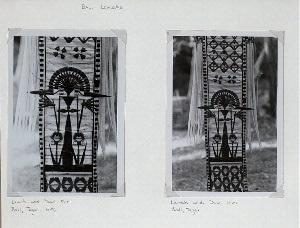 Bali - Lamaks. Lamak with Dewi Shri. Bali, Tegal, 1956 (left); Lamak with Dewi Shri. Bali, Tegal (right).
