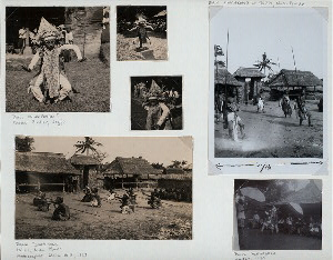 Baris melampahan (?),Jogja (top left); Baris djangkang at Pelilit, Nusa Penida (top right and bottom left); Baris melampahan, Jansan, 1930 (bottom right).