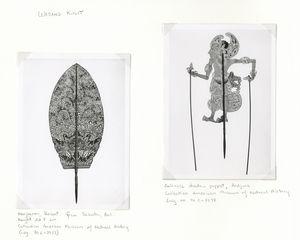 Wayang Kulit. Kaojoenan, Babat, from Sebatu, Bali. Height 52.8 cm.; Balinese shadow puppet, Ardjuna. (Collection of American Museum of Natural History)