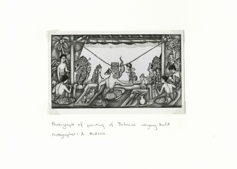 Photograph of painting of Balinese wayang kulit.