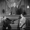 Horace Braham as Capraro (left), Charles Bickford as Macready (right) and Douglas Wood as Judge Vail.