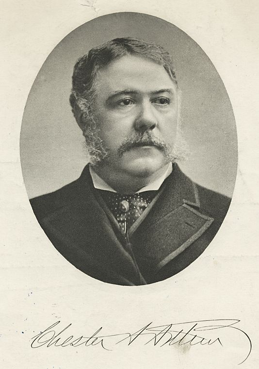 Chester A. Arthur, Te Twenty first President of the United States, 1881-1885. (#1629).