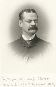 William Waldorf Astor [From Holland Soc. of N.Y., Year book 1886/87].