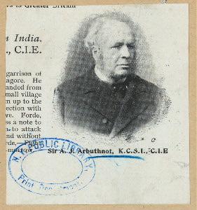 Sir A. J. Arbuthnot.