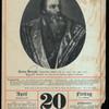 Meyers Historisch Geographischer Kalendar, 20. April 1900 : Pietro Aretino, (italienischer Dichter, geb. 20. April 1492, gest. 1557) nach dem Gemälde von Tizian in Palazzo Pitti zu Florenz.