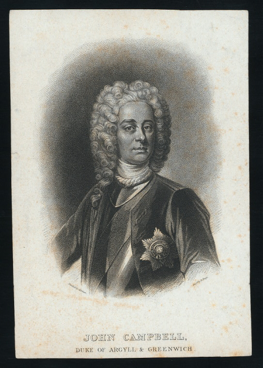 John Campbell, duke of Argyll and Greenwich.