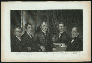 Deceased secretaries of the American Board of Commissioners for Foreign Missions : Dr. Wisner, Jeremiah Evarts, Dr. Wocester, Dr. Cornelius, Dr. Armstrong.