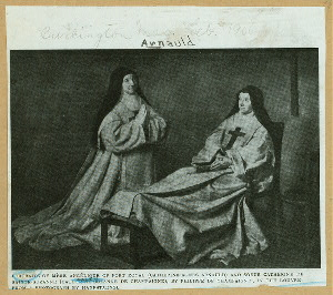 Portraits of Mère Angélique of Port Royal (Catherine-Agnes Arnauld) and Soeur Catherine de Sainte-Suzanne (Catherine-Suzanne de Champaigne), by Philippe de Champaigne ; in the Louvre.