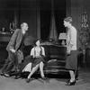 Donald Ogden Stewart as Nick Potter, Barbara White (seated) as Susan Potter & Hope Williams as Linda Seton.