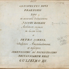 Conspectus novi praetorii Loo ex accurata delineatione Jacobi Romani, architecti eximii [Title page]